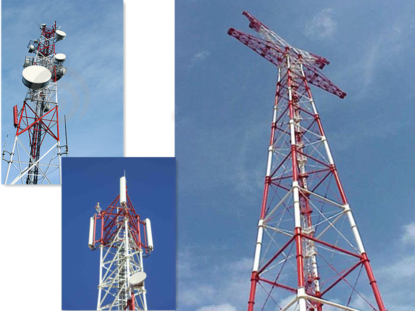 China Lowes Microwave Antenna Triangle Tower for Telecom Photos