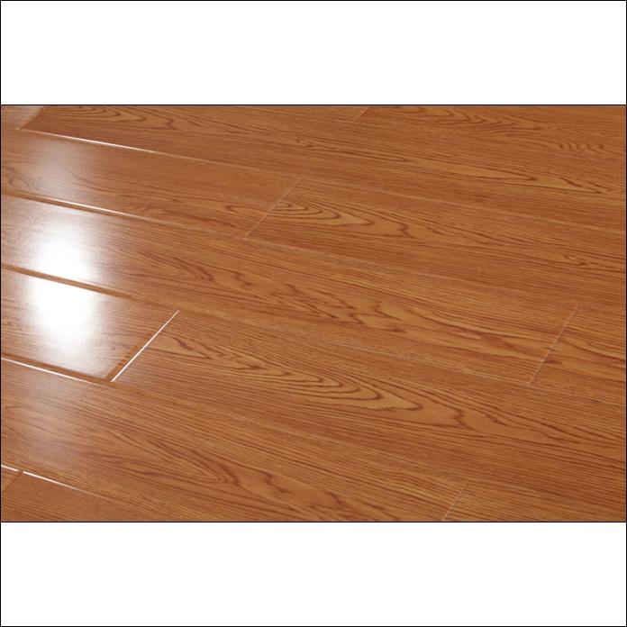 China 12mm U Groove High Gloss Laminate Flooring Wood Laminated