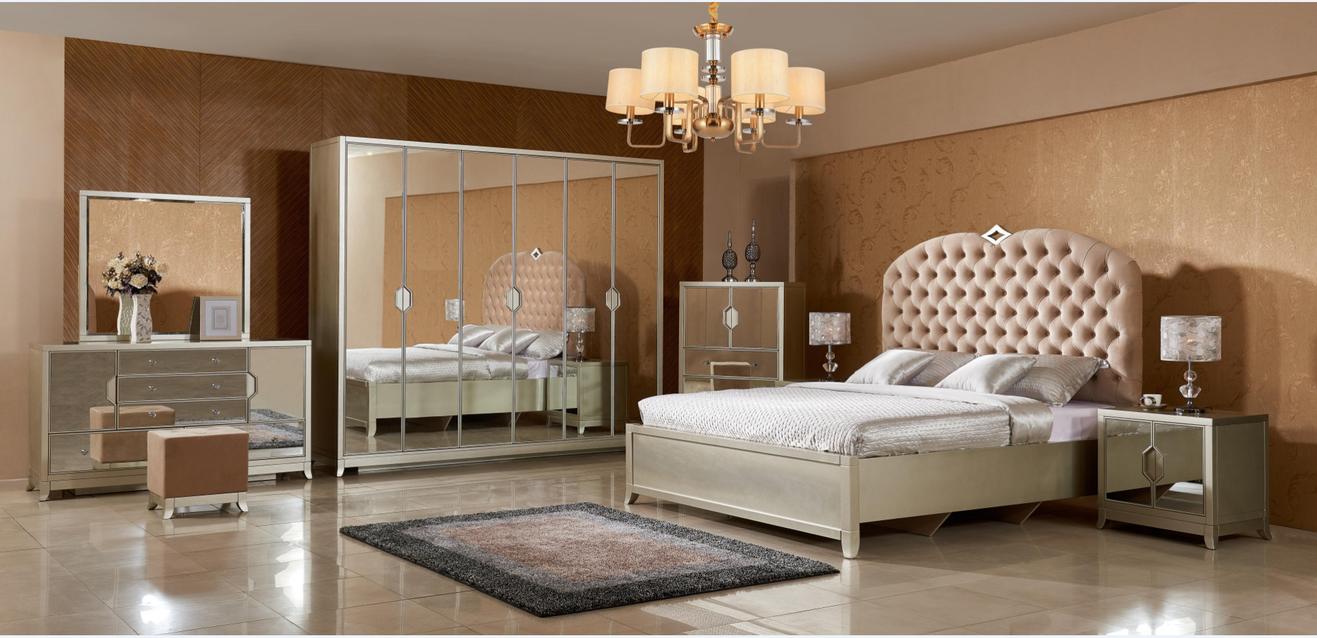 China Bed Room Decorative Mirror Bedroom Set Furniture China Bed Bedroom