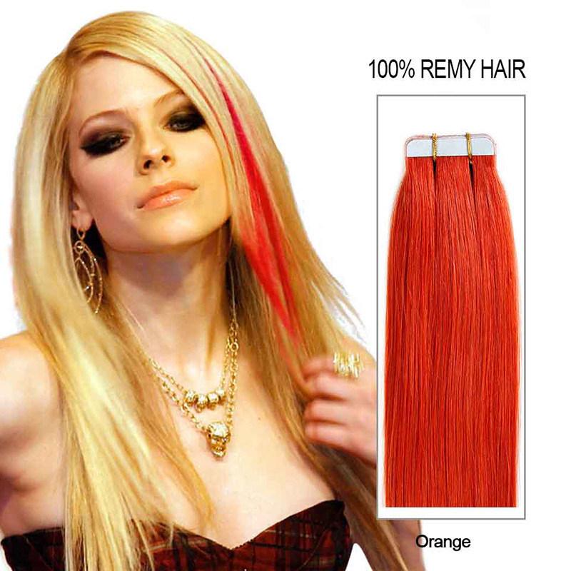 China 16 24 20pcs Tape Hair Extensions Human Brazilian Remy
