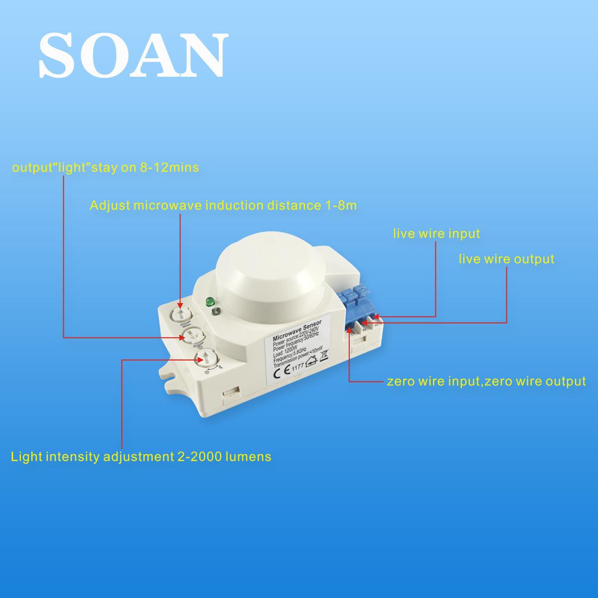 China Microwave Sensor 220V Active Motion Sensor Detector (KG001 ...