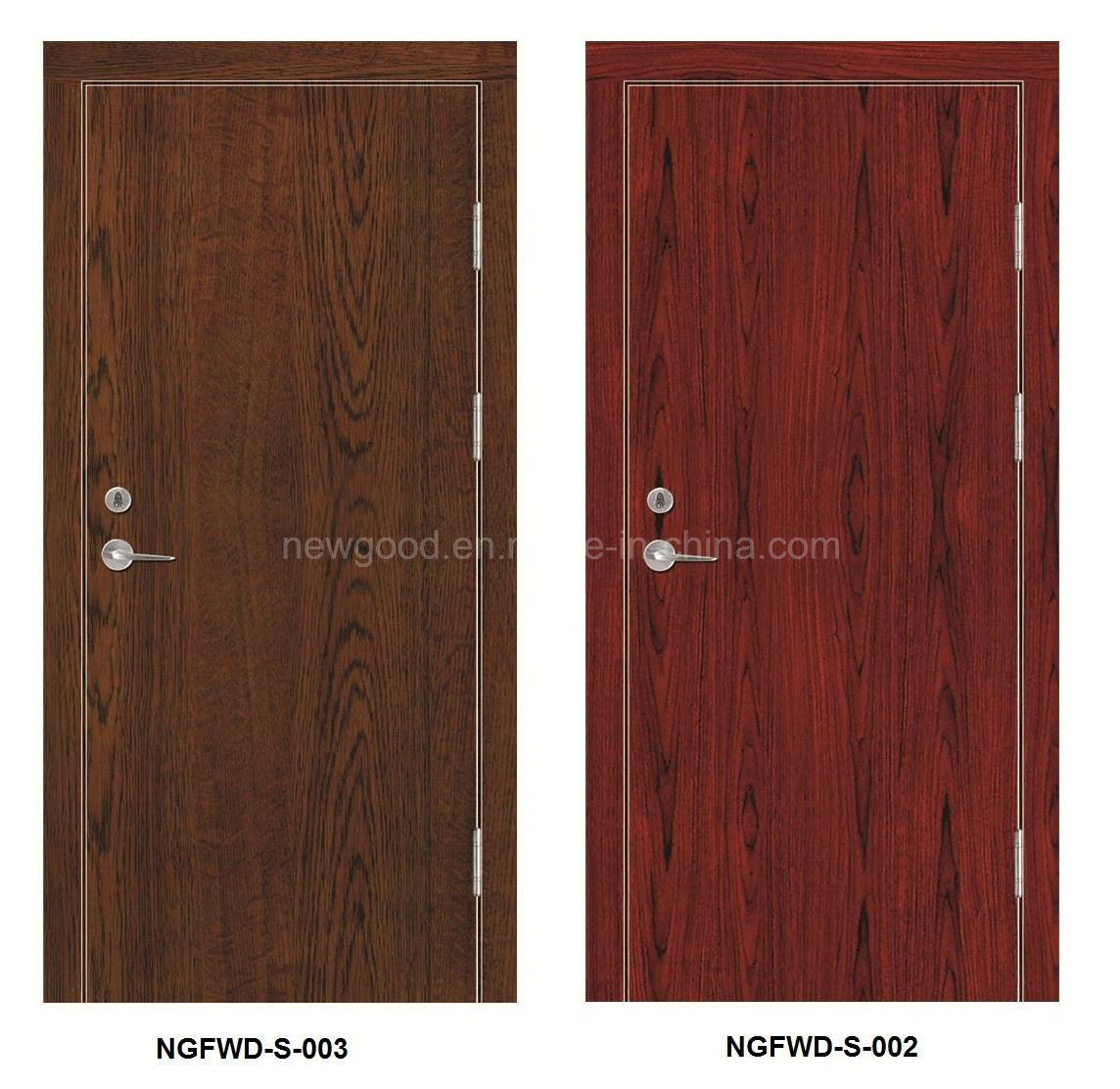 China Melamine Paper + MDF + Solid Core Fire Rated Wooden Door ...