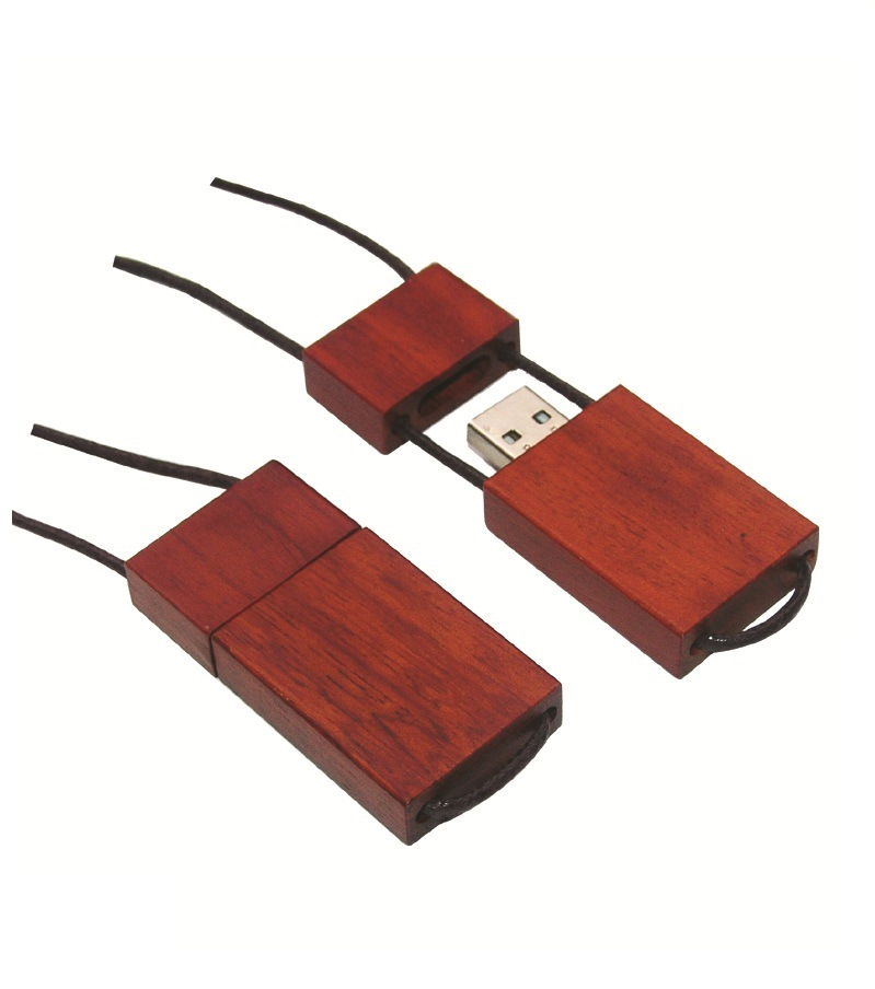 Full Capacity Custom Logo Wooden USB Flash Drive
