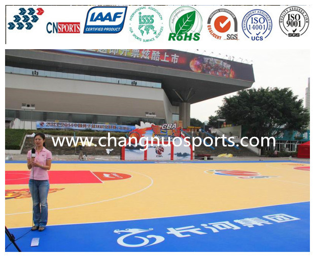 Excellent Silicon PU Sports Court for Basketball/Tennis/Vollyball/Badminton Flooring pictures & photos