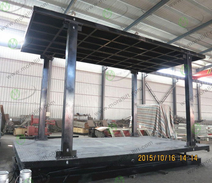 Double Platform Underground Scissor Car Lift pictures & photos