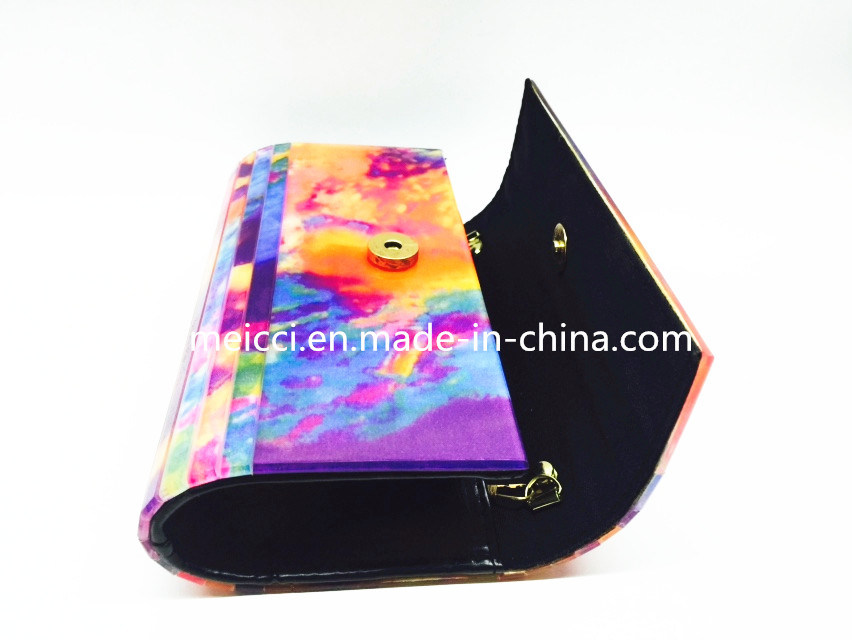 Fashion Clutch Lady Handbag Acrylic Eveningbag