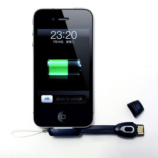 China USB Data Smart Cable Strap With Micro SD Card Reader