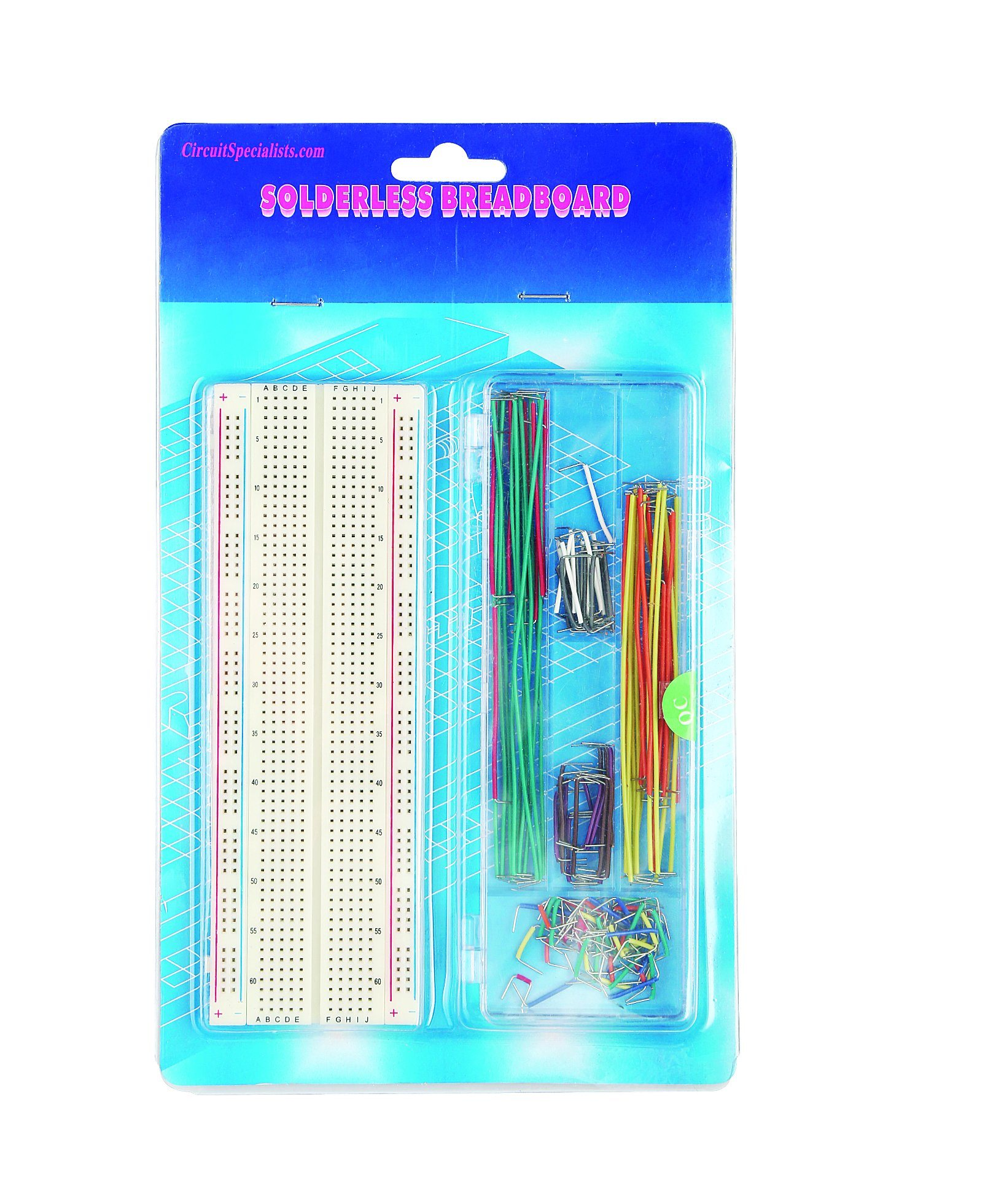 China 830 Points Breadboard With 140 Pcs Jumper Wire Transparent Solderless Showing The Metal Strips For Tie