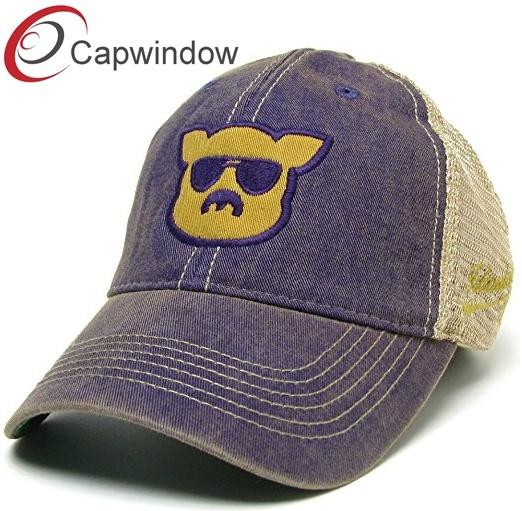1b59ad950 China Classic Cotton Dad Cap Trucker /Mesh Cap Custom Made with Flat ...
