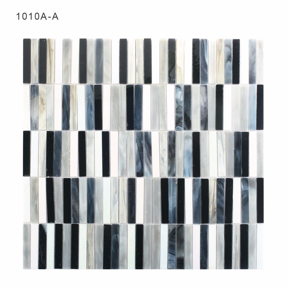 China Factory Wholesale Black and White Mosaic Tile for Bathroom ...