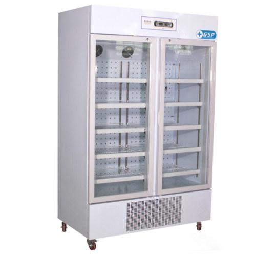 660L 8~20 Degree Double Glass Doors Pharmacy Cabinet  Refrigerators/Fridge/Freezer/Chiller Hlc L660
