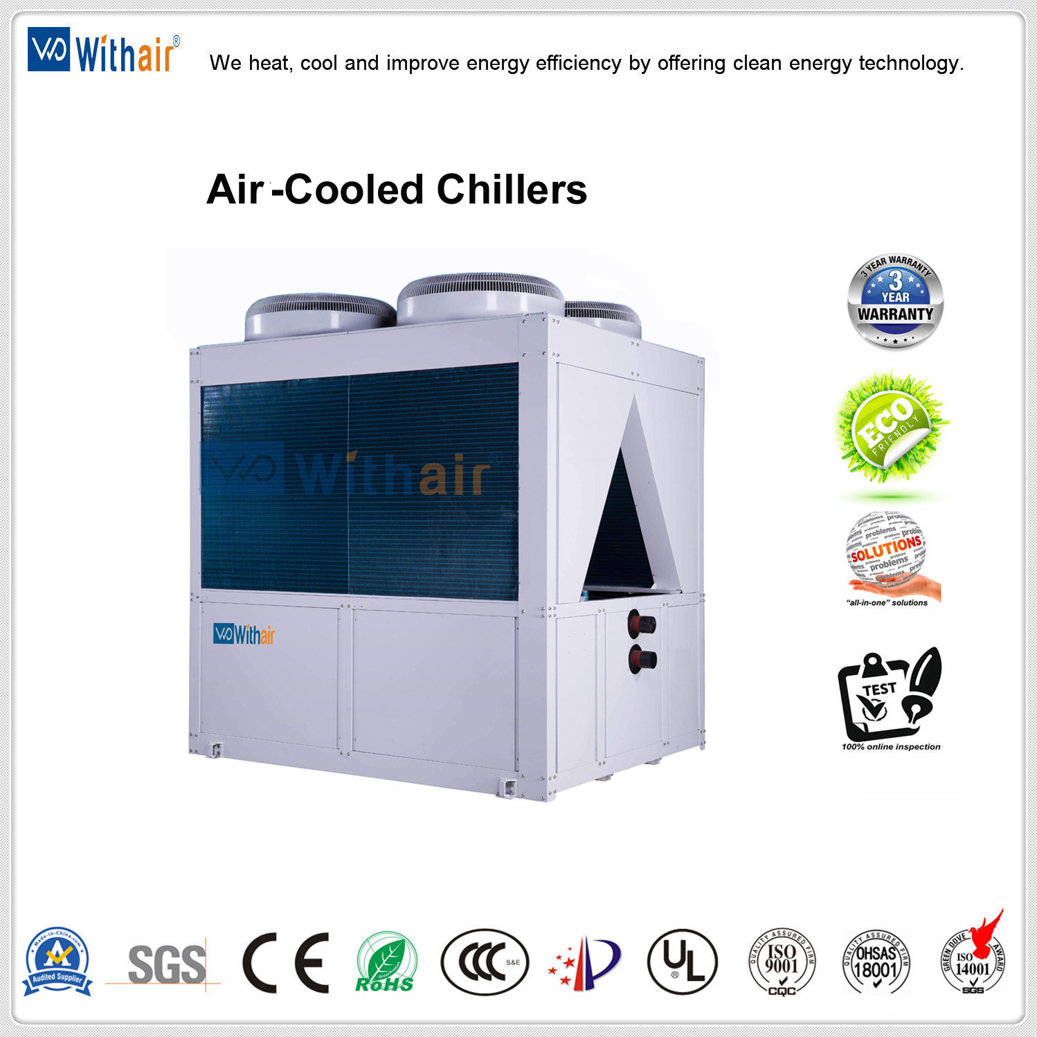 China Industrial Air Cooled Scroll Water Systems Chiller