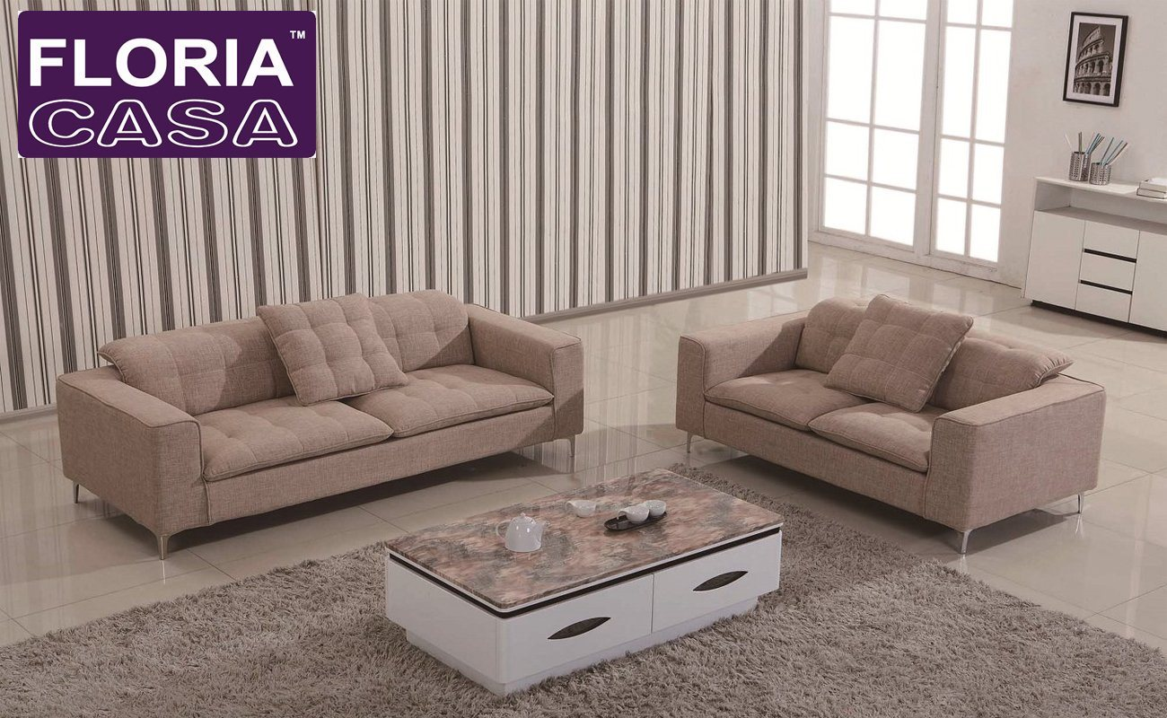 China Homely Modern Cotton Seat Durable Fabric Living Room Sofa