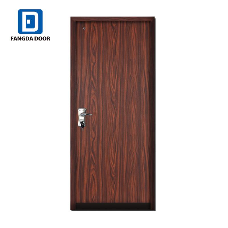 Galvanized Steel Frame Flat Exterior Security Residential Metal Door