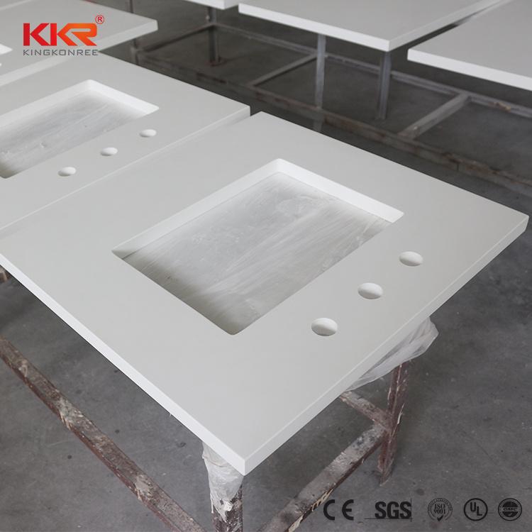 China Sparkle White Quartz Stone Bathroom Countertop Photos