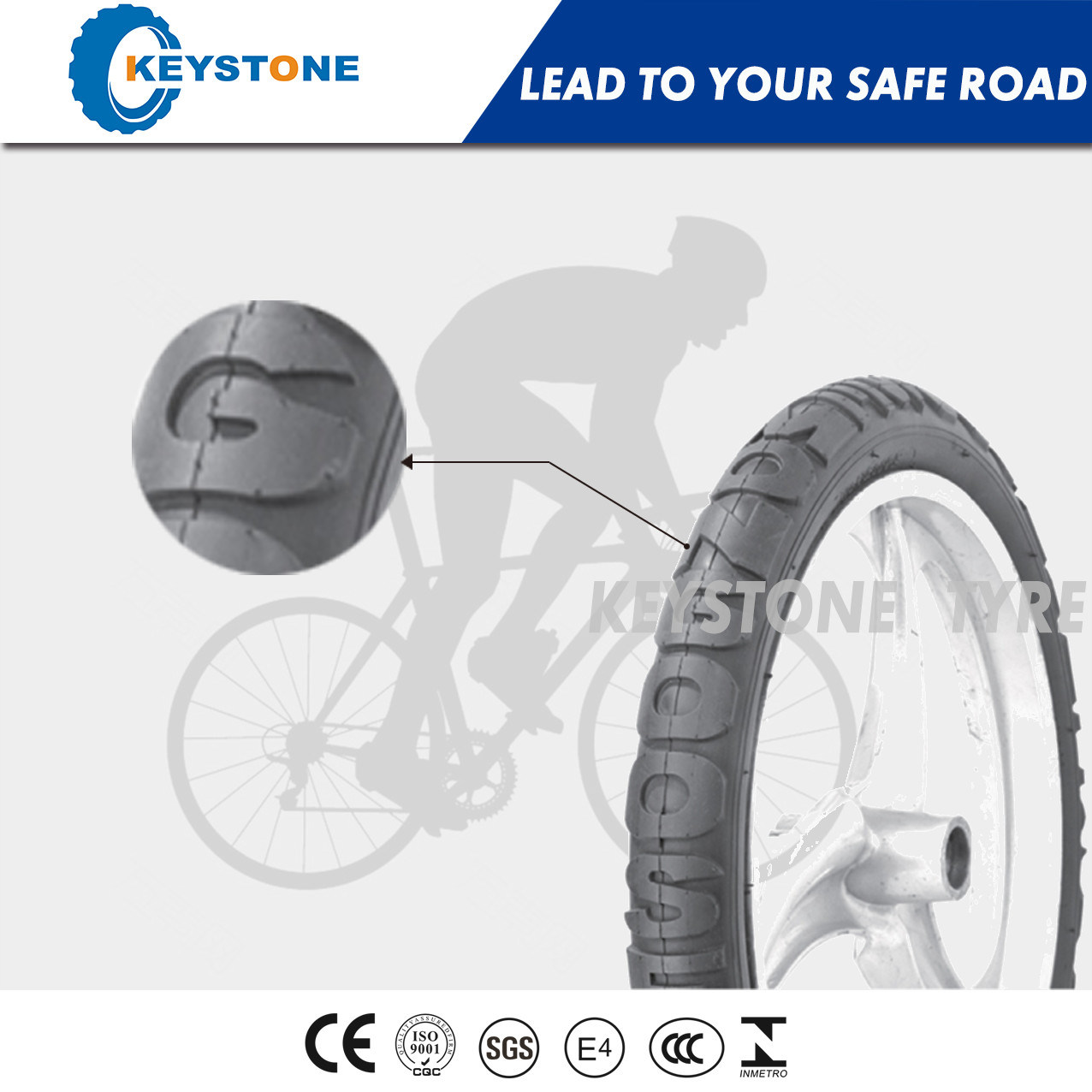ECE Approved Bicycle Tire with Dual Compound for City 12X2.125-24X2.125