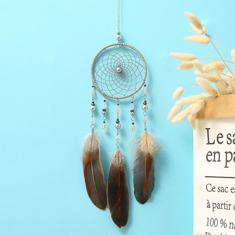 China Feather Fashion Dream Catcher Handmade Led Light For Room Home Decoration Art Craft Dreamcatcher China Handmade And Wall Hanging Price