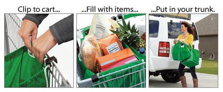 Insulate Reusable Foldable Grocery Cart Bags Shopping Trolley Bag Grab