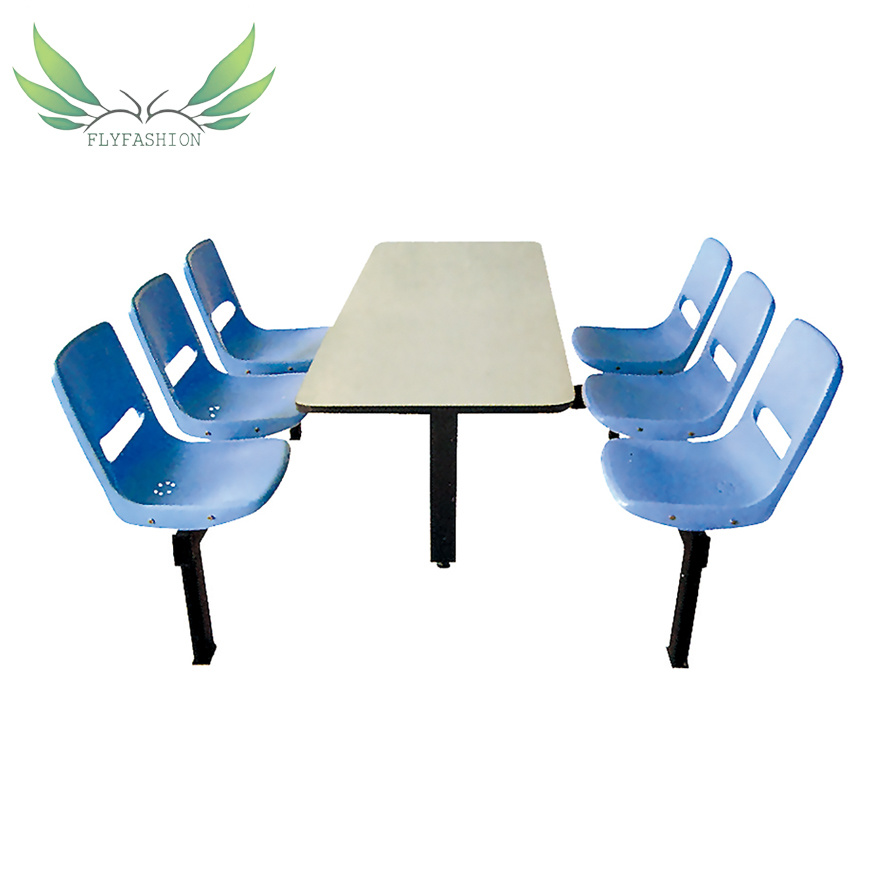 China School Canteen Furniture Canteen Dining Table With Six Chairs China Dining Table Dining Chair
