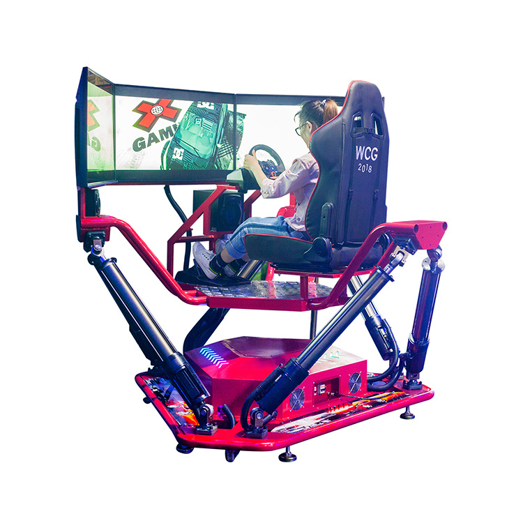 [Hot Item] Furious 3 Screen 6dof Car Racing 3D Games Simulator
