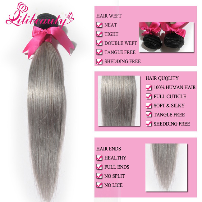China Mongolian Human Hair Ombre Hair Weaves Straight Hair Photos