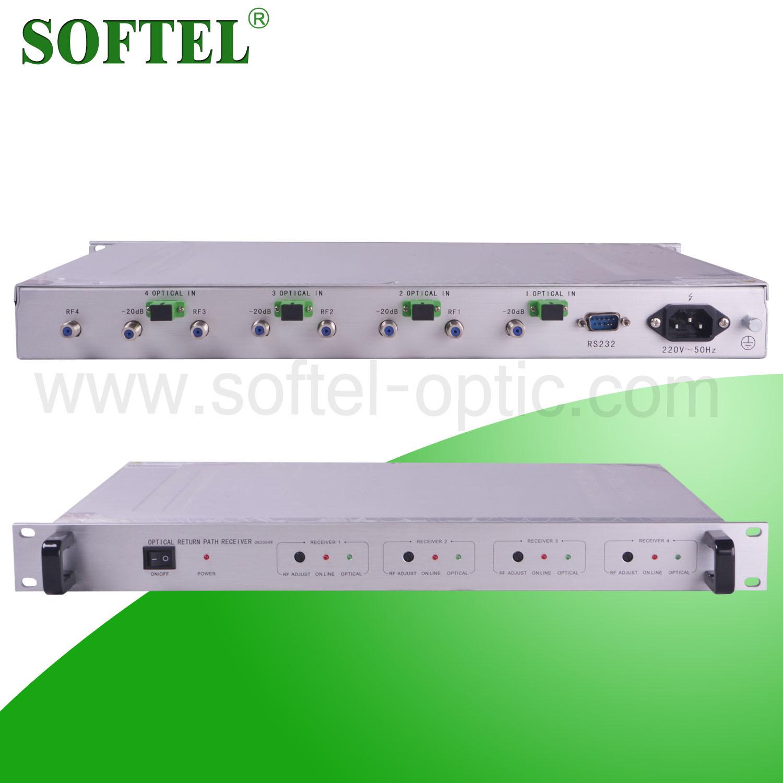 China 4 Way Indoor Return Path Fiber Optical Node 5 200mhz 2 Switch