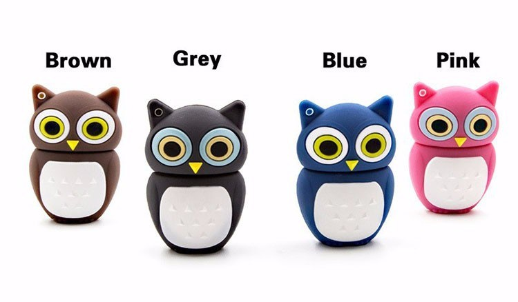 Best Cartoon Owl USB Flash Drive PVC Flash Memory Card 8GB pictures & photos