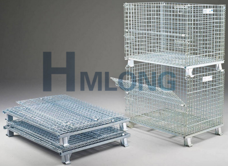 Large Welded Rigid Stack Wire Mesh Containers pictures & photos