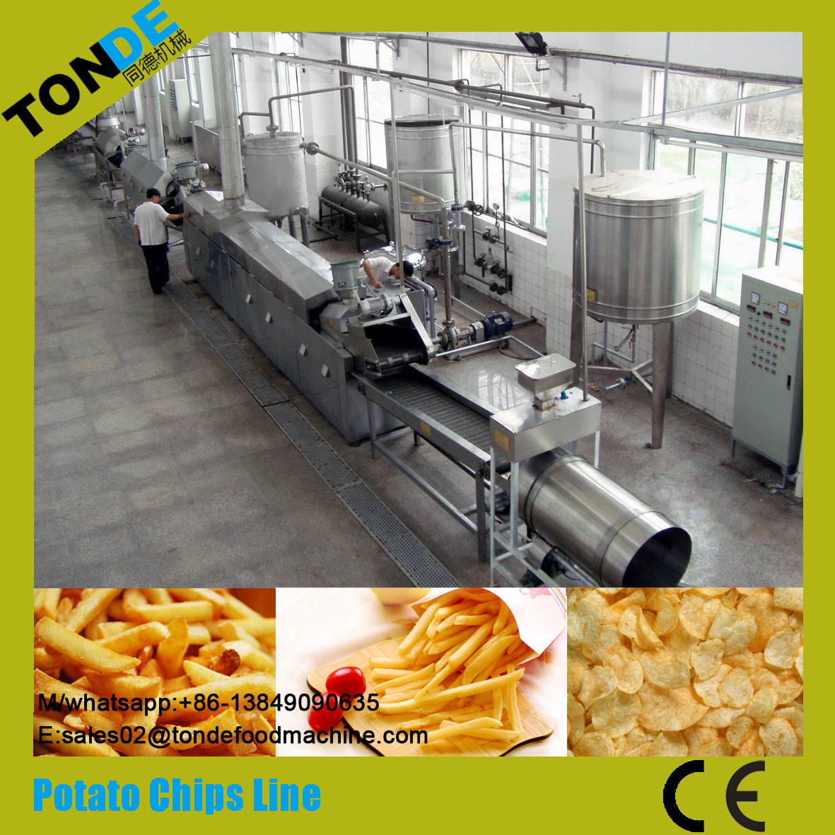 Fully Automatic Fresh Frying Taro Potato Chips Production Line pictures & photos