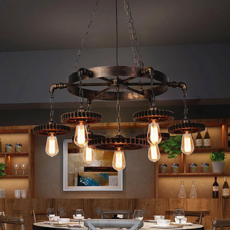 French Country Vintage Pendant Lighting, Farmhouse Dining Room Lighting