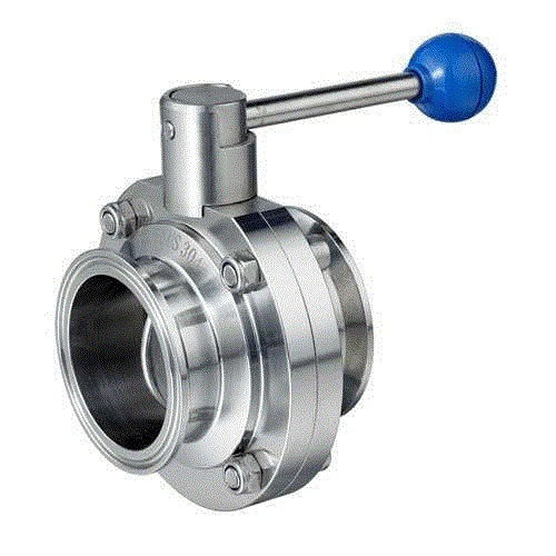 China 304L Sanitary Butterfly Valve with Tri-Clamp Ends