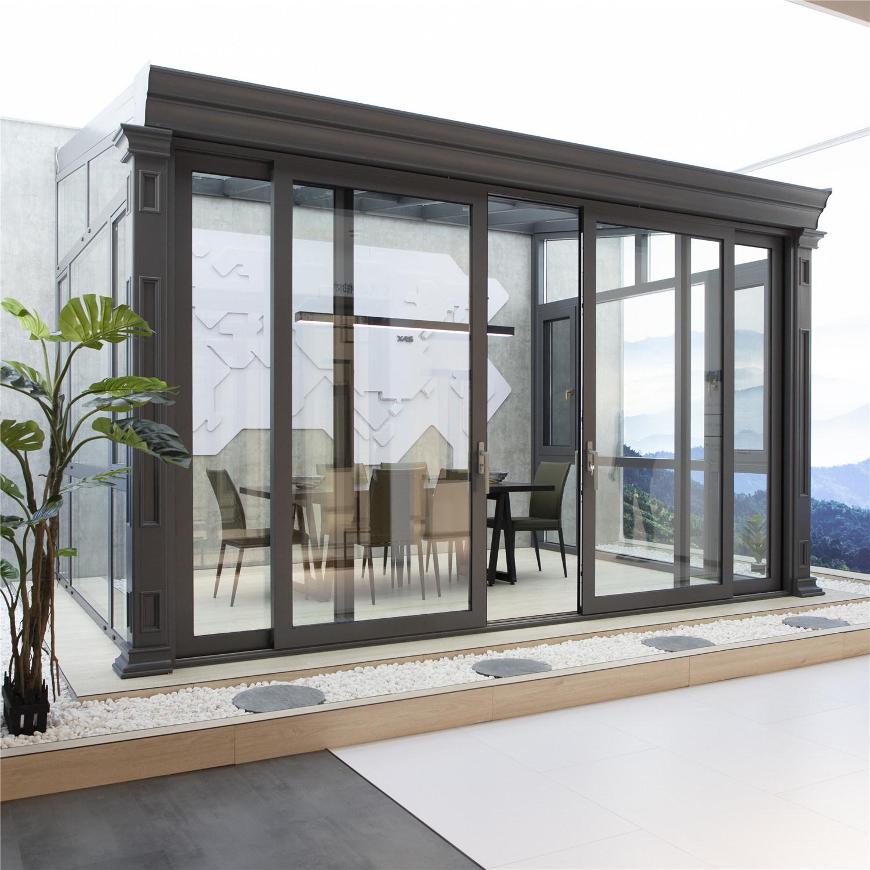 China Modern Designs Enjoy Sun Ray Garden Room Outdoor Patio Roof Heat Insulated Aluminum Glass Houses Sunrooms China Casement Window Aluminum Window