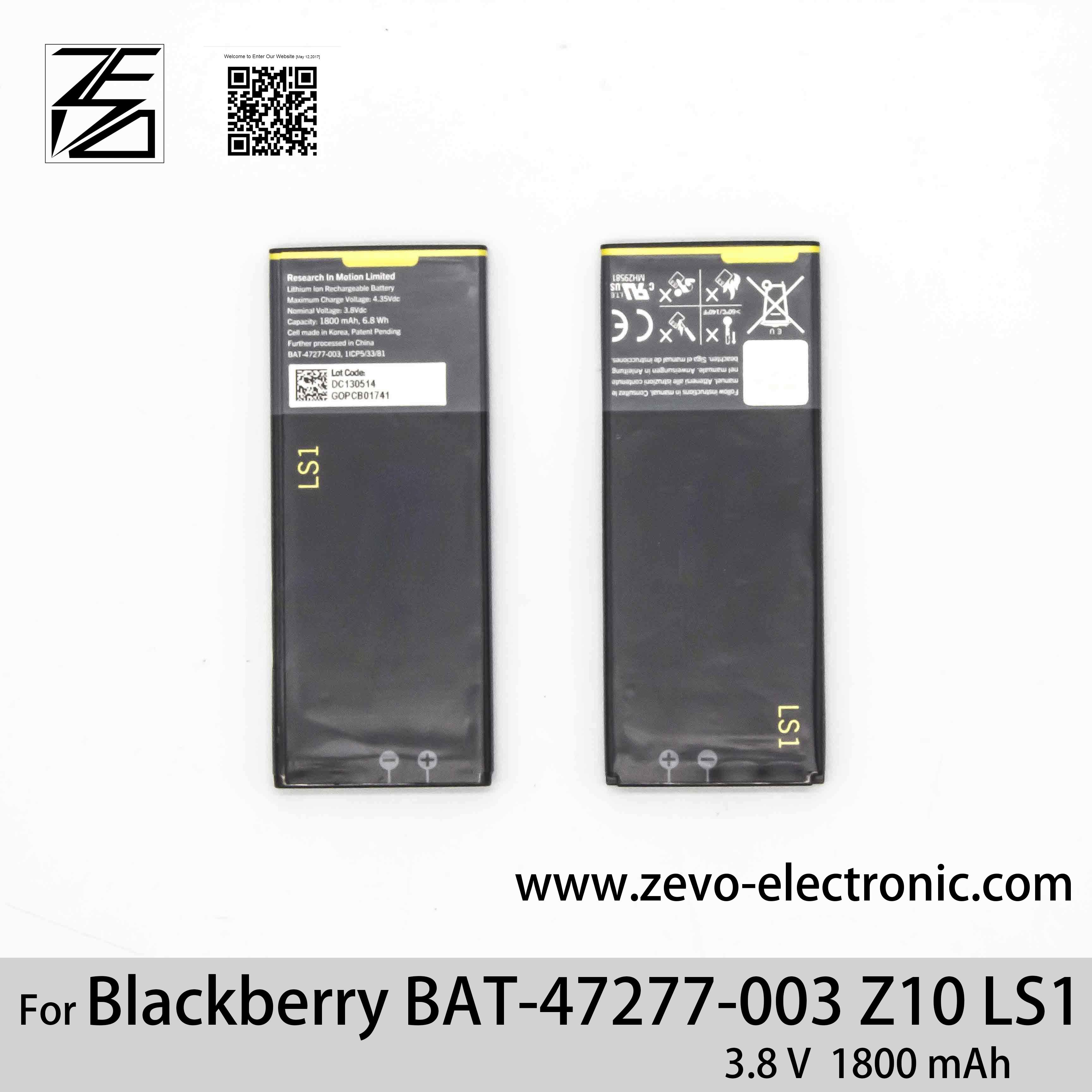 China Original Mobile Phone Battery for Blackberry Z10 Bat-47277-003 Ls1 - China Battery, Mobile Phone Battery Manufacturer