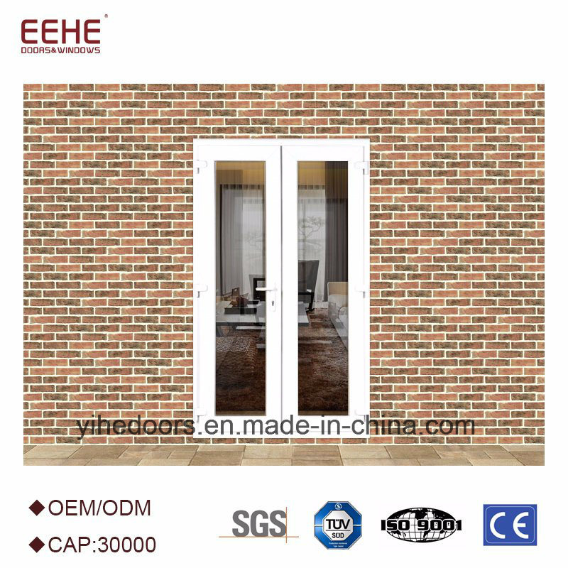 China Entrance Weather Stripping Glass Door Aluminium Double Leaf