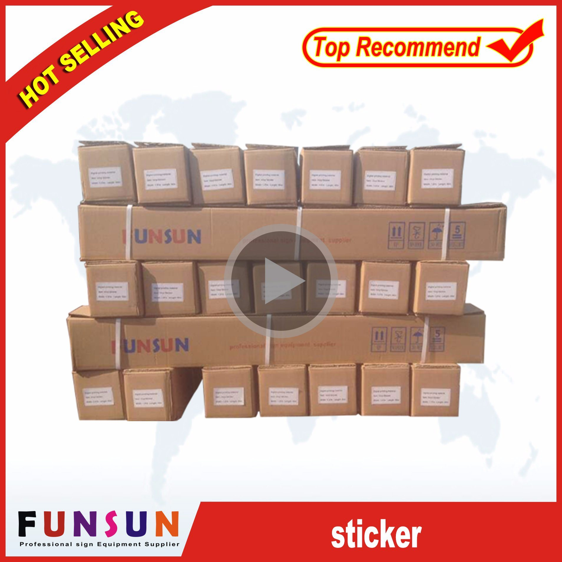 Self Adhesive Vinyl /Vinyl Sticker/Digital Printing Media (Length: 50m, 100m)