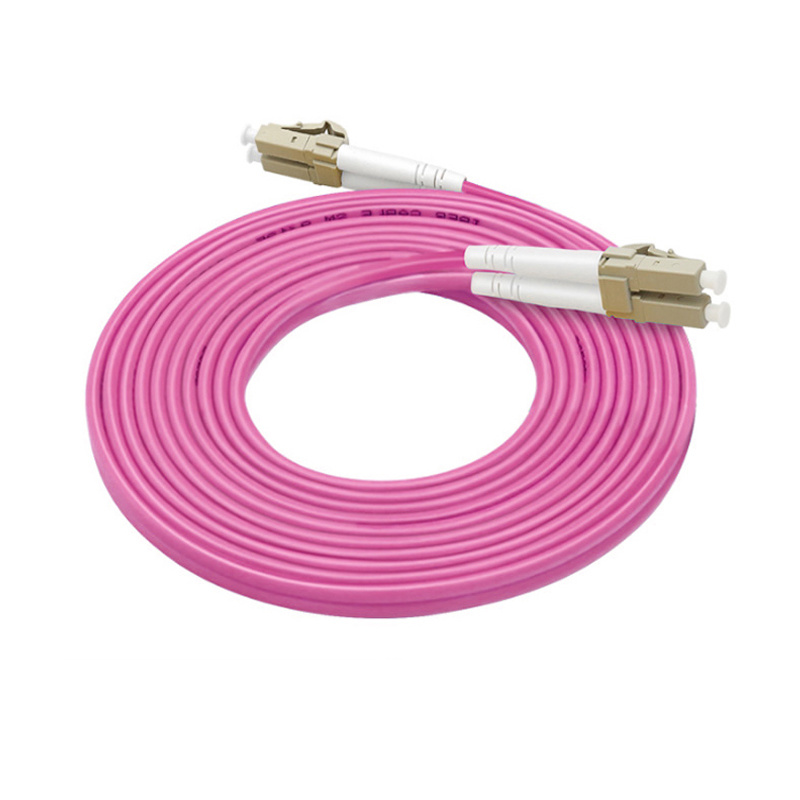 10M LC UPC to SC UPC Duplex OM4 Multimode 3.0mm Fiber Optic Patch Cord Cable