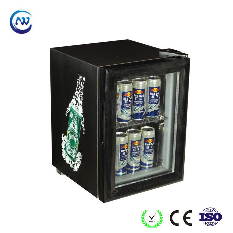 China Small Glass Door Counter Top Beverage Refrigerator Beer Cooler Jga Sc21 Showcase