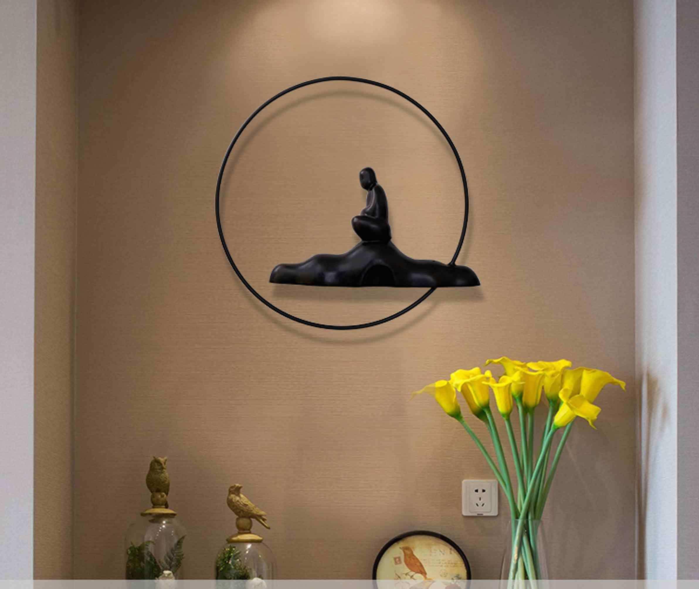 Metal Wall Art Buddha Sculpture