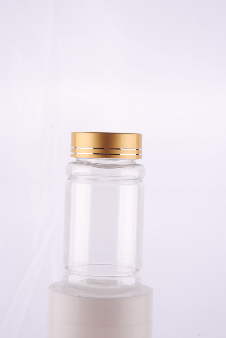 Aluminium Cap Pet Bottle for Medicine Capsule Plastic Packaging