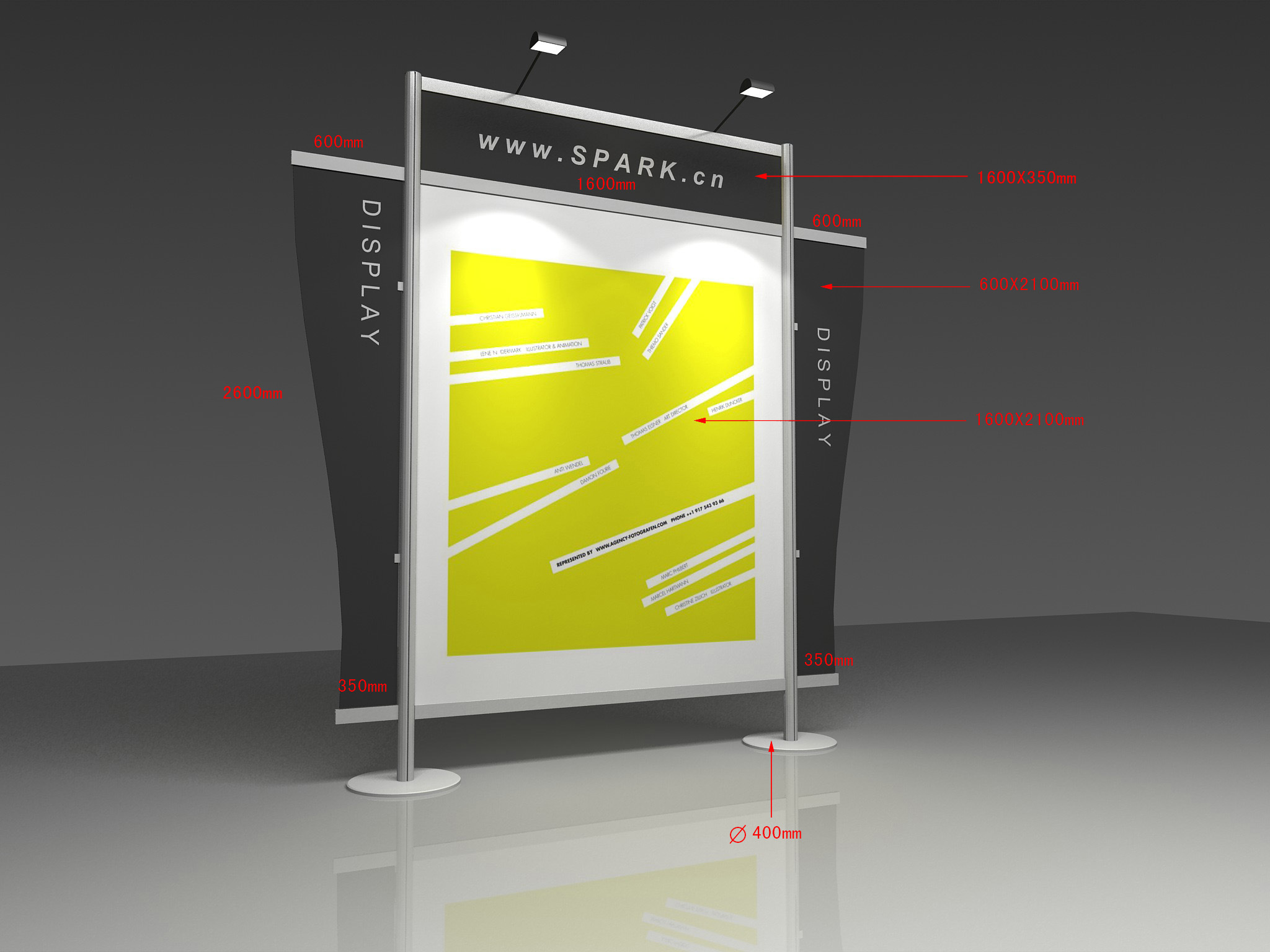 Exhibition Booth Backdrop : China aluminum 10 feet exhibition booth banner backdrop stand