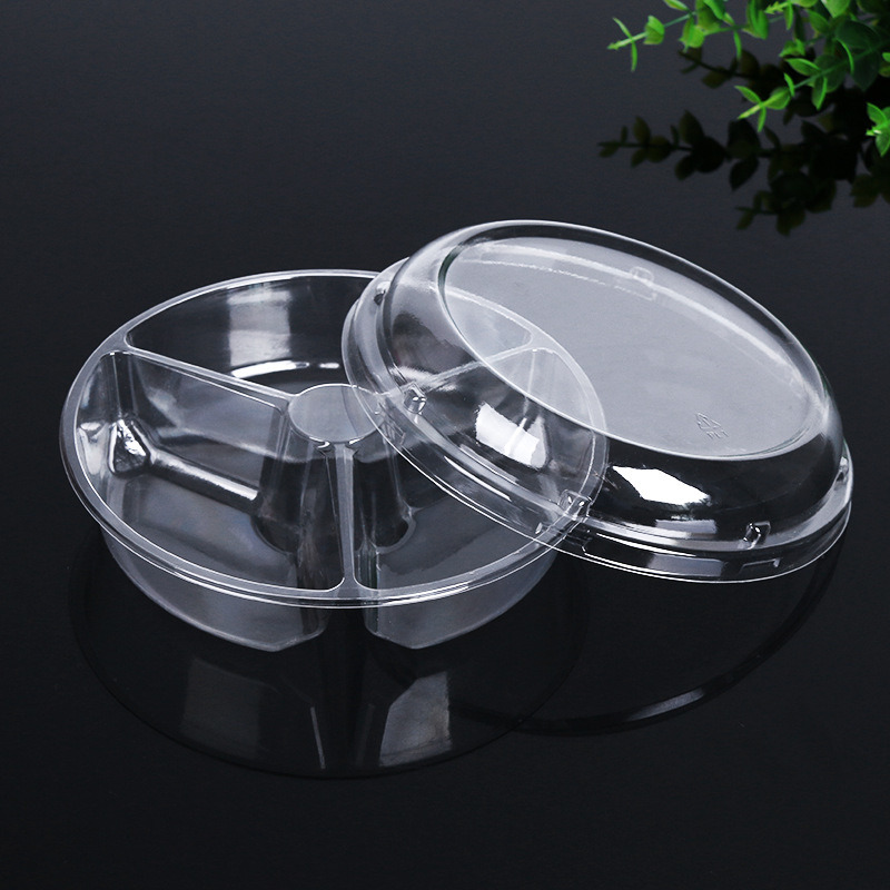 factory disposable pet round food container packaging fruit box
