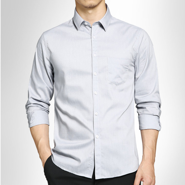 2016 Latest Design Men′s Slim Fit Business Purple Shirt