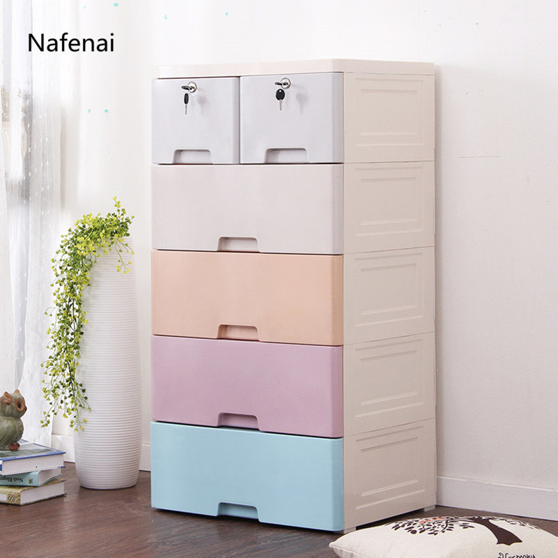 China Plastic Storage Drawers Cabinet Large Space Chest Of Drawers