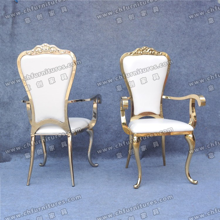 Wedding Durable Fancy King And Queen Gold Throne Chairs For Yc Ss32