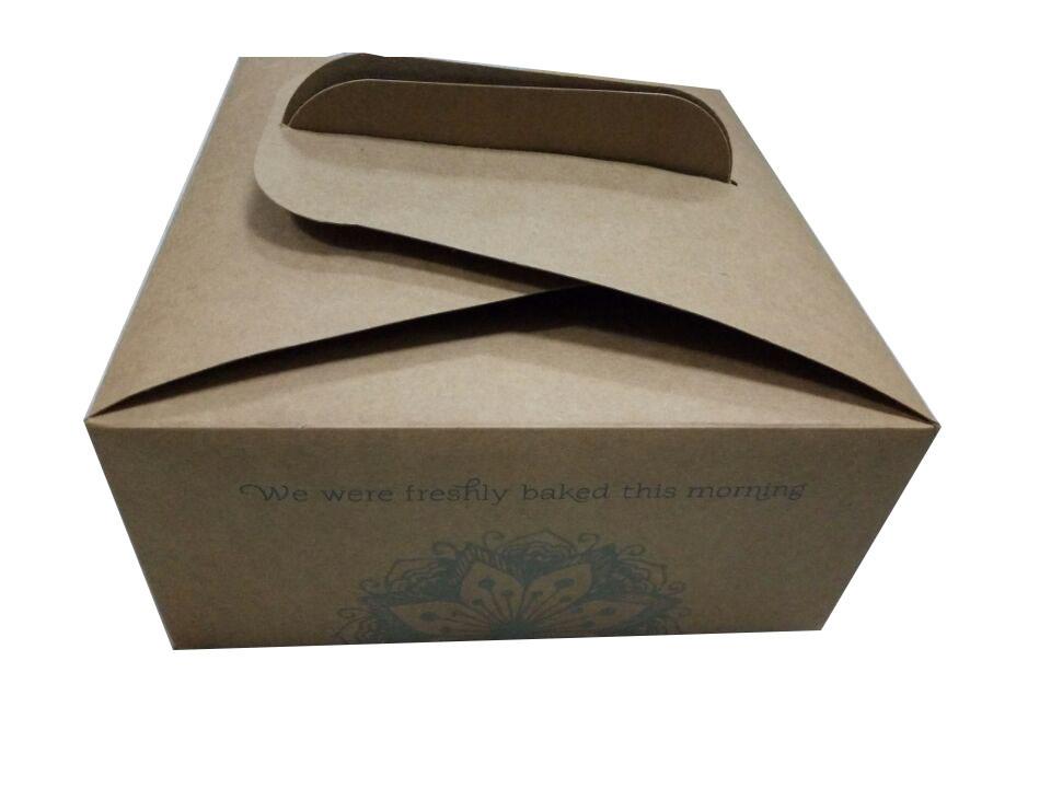 [Hot Item] Cardboard Box with Handle Cake Box with Handle Custom Printing  Free Design