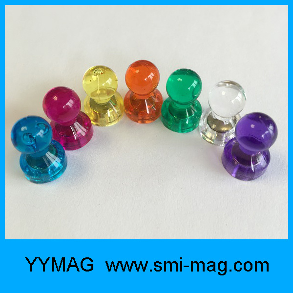 Decorative Colorful Clear Magnetic Pins for Fridge
