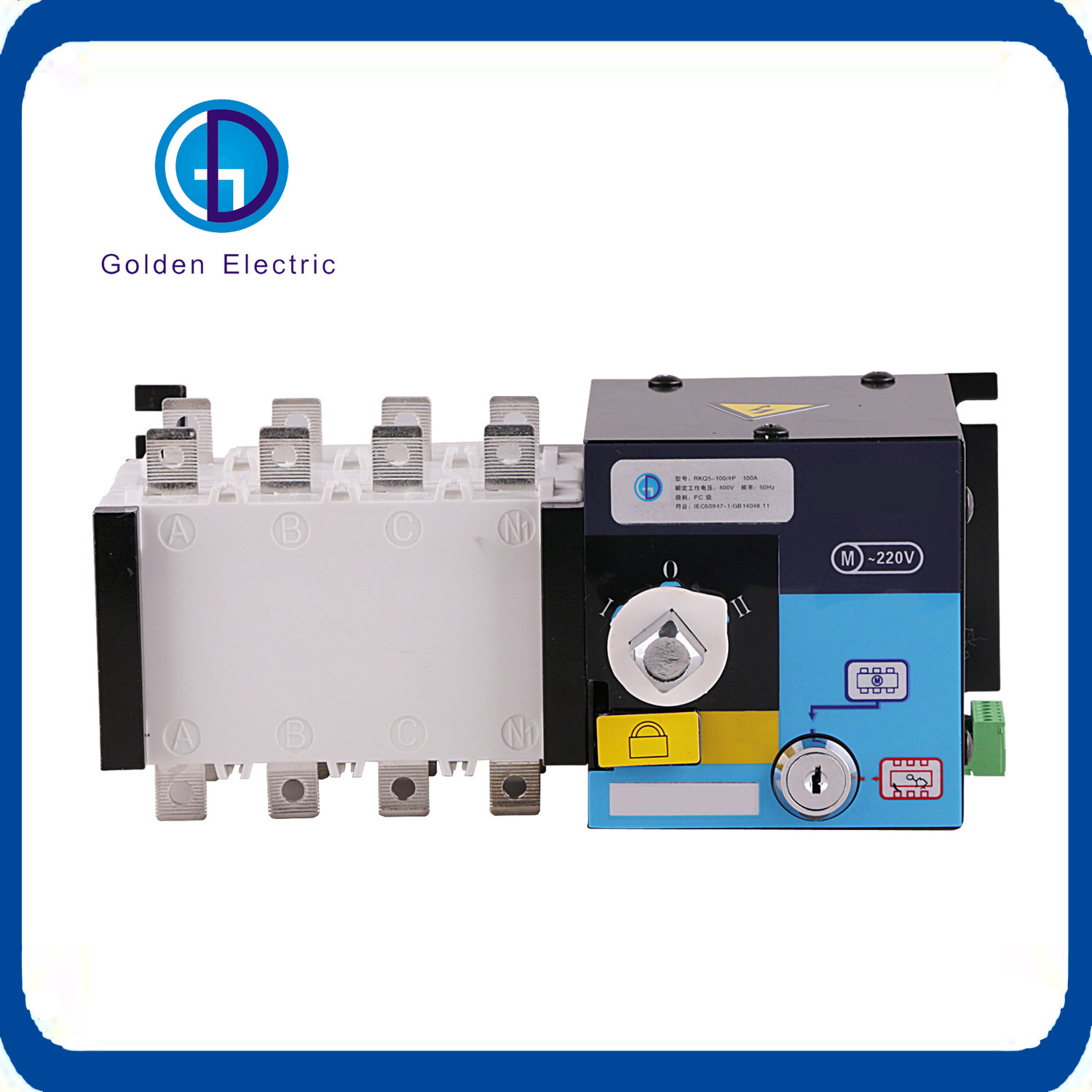 China Automatic Changeover Switch 3 Pole 4 Pole 100A Generator ...
