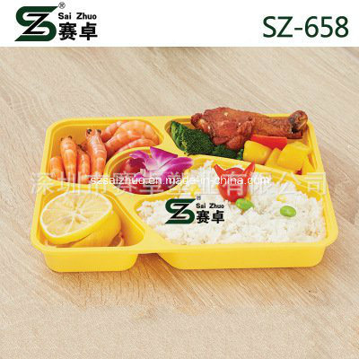 5 Compartment Top Grade Thicken Disposable Plastic Food Tray