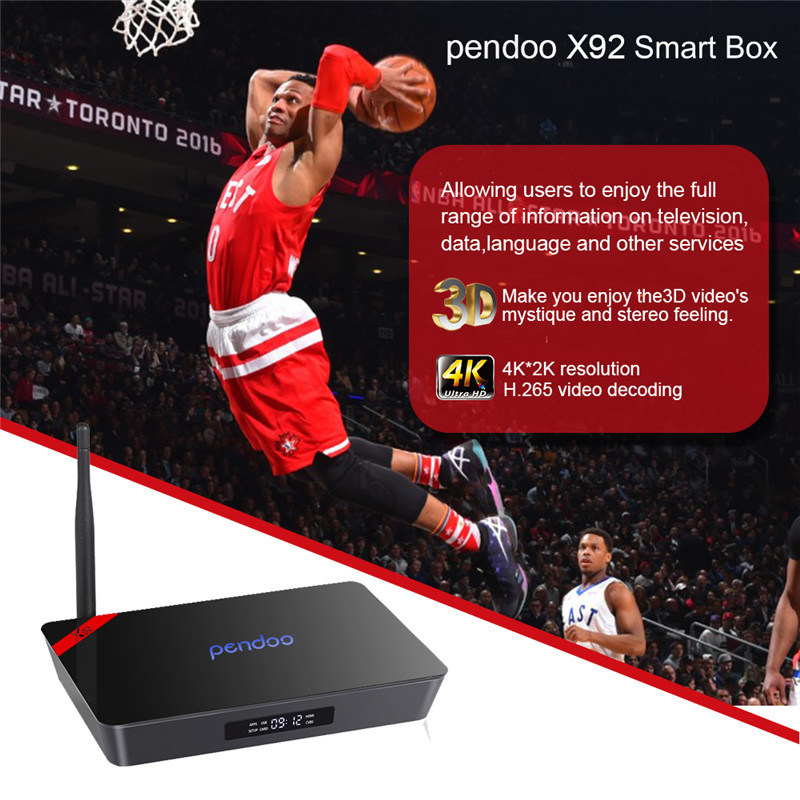 2016 Ott Box Pendoo X92 S912 2g 16g Octa Core Kodi 17.0 TV Box pictures & photos