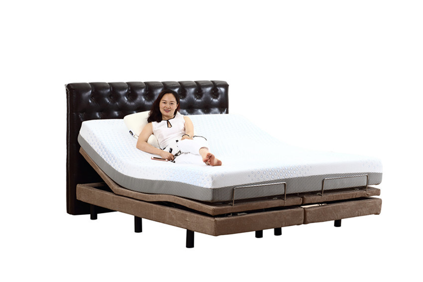 China Home Furniture Electric Bed Adjustable Bed Split King Size